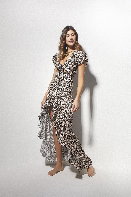 Vestido Isadora Eletric Leopard