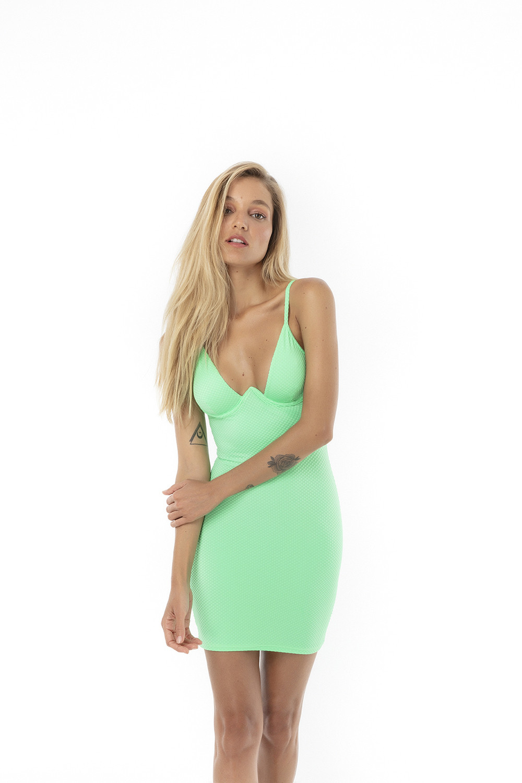 Vestido Alina Eletric Green