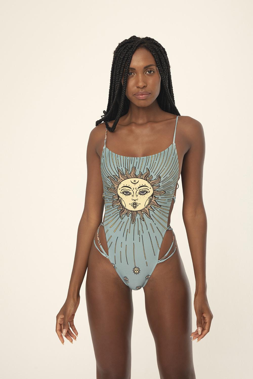 Maiô Francesca Blue Sun