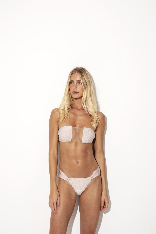 Top Marissol Lurex Nude