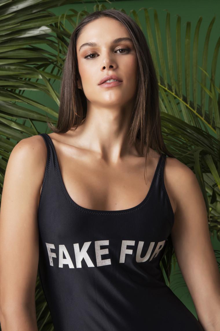 Maio Fake Fur Black